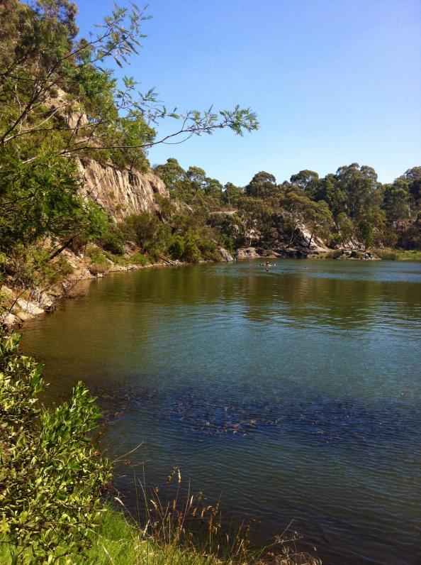 blue lake plenty gorge park victoria